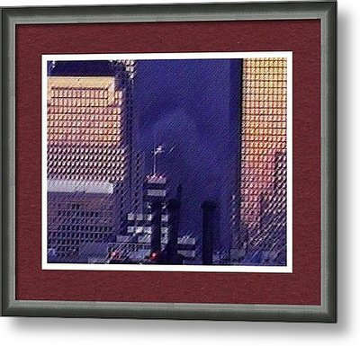Sample Example Sunset On Ground Zero Metal Print