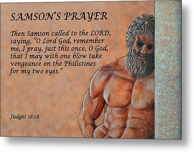 Samson's Prayer Metal Print