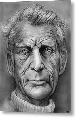 Samuel Beckett Metal Print by Greg Joens