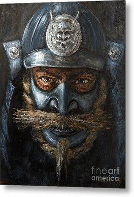 Metal Print featuring the painting Samurai by Arturas Slapsys