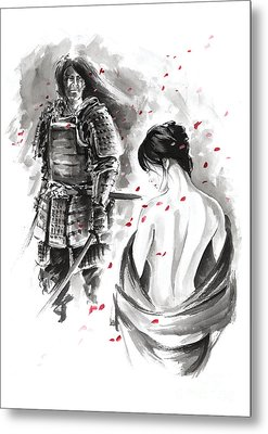 Samurai. Metal Print by Mariusz Szmerdt