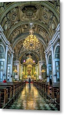 San Agustin Church  Metal Print by Adrian Evans