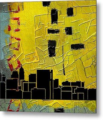 San Antonio 002 C Metal Print by Corporate Art Task Force