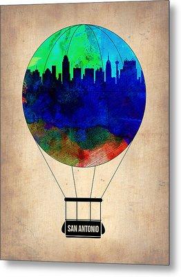 San Antonio Air Balloon Metal Print by Naxart Studio