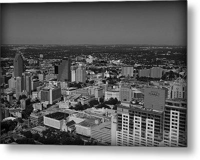 San Antonio - Bw Metal Print
