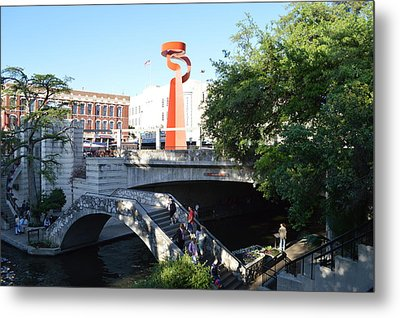 Metal Print featuring the painting San Antonio River 01 by Shawn Marlow