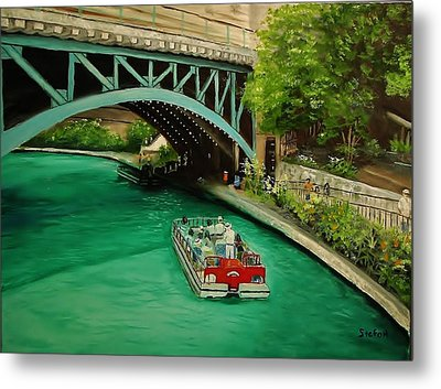 San Antonio Riverwalk Metal Print by Stefon Marc Brown