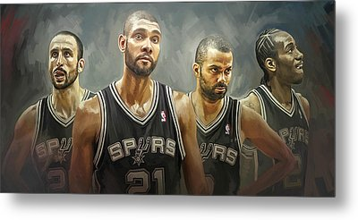 San Antonio Spurs Artwork Metal Print
