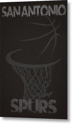 San Antonio Spurs Hoop Metal Print by Joe Hamilton