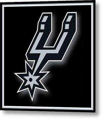 San Antonio Spurs Metal Print by Tony Rubino