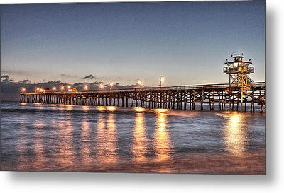 San Clemente Pier At Night Metal Print