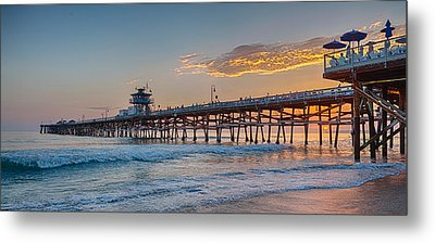 There Will Be Another One - San Clemente Pier Sunset Metal Print by Scott Campbell