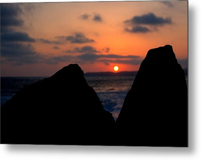 San Clemente Rocks Sunset Metal Print by Matt Harang