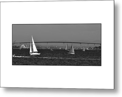 Metal Print featuring the digital art San Diego Bay Sailing 2 by Kirt Tisdale