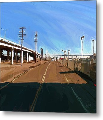 Metal Print featuring the painting San Diego California Usa by Nop Briex