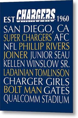 San Diego Chargers Metal Print by Jaime Friedman