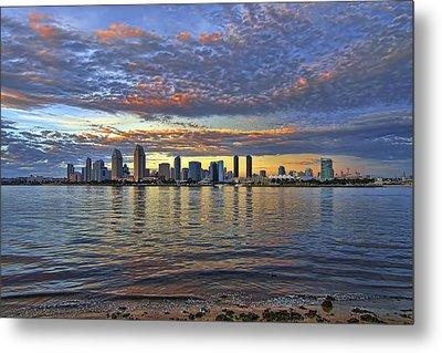 San Diego Colorful Clouds Metal Print
