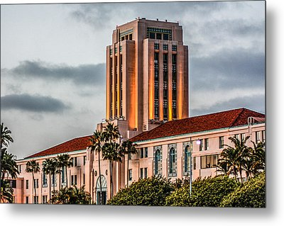 Metal Print featuring the digital art San Diego County Administration Center by Photographic Art by Russel Ray Photos