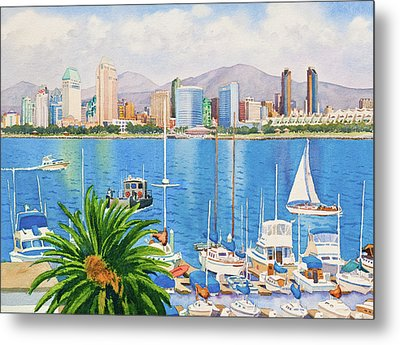 San Diego Fantasy Metal Print by Mary Helmreich