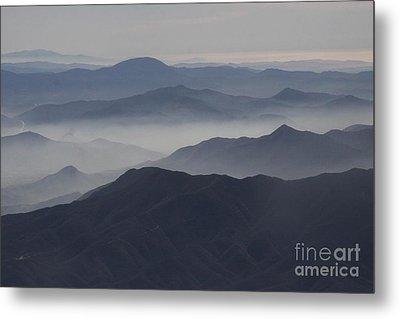 San Diego Hills In Fog And Haze Metal Print by Darleen Stry