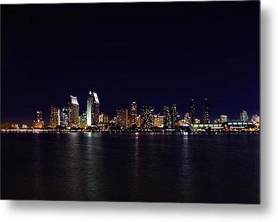 San Diego Night Lights Metal Print