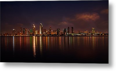 San Diego Night Skyline Metal Print