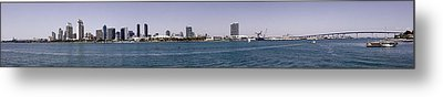 San Diego Panorama Metal Print by Photographic Art by Russel Ray Photos