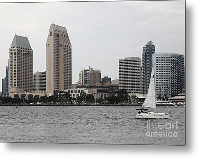 San Diego Skyline 5d24333 Metal Print by Wingsdomain Art and Photography