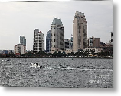 San Diego Skyline 5d24334 Metal Print by Wingsdomain Art and Photography