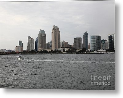 San Diego Skyline 5d24335 Metal Print by Wingsdomain Art and Photography
