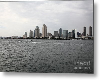 San Diego Skyline 5d24336 Metal Print by Wingsdomain Art and Photography