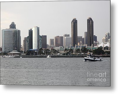 San Diego Skyline 5d24380 Metal Print by Wingsdomain Art and Photography