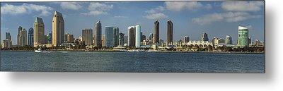San Diego Skyline Daytime Panoramic Metal Print by Adam Romanowicz