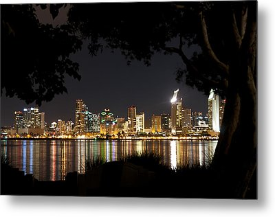 Metal Print featuring the photograph San Diego Skyline Framed 1 by Lee Kirchhevel