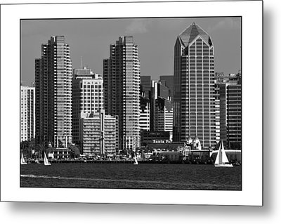 Metal Print featuring the digital art San Diego Skyline by Kirt Tisdale