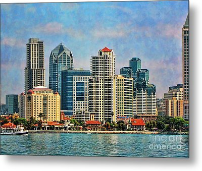 Metal Print featuring the photograph San Diego Skyline by Peggy Hughes
