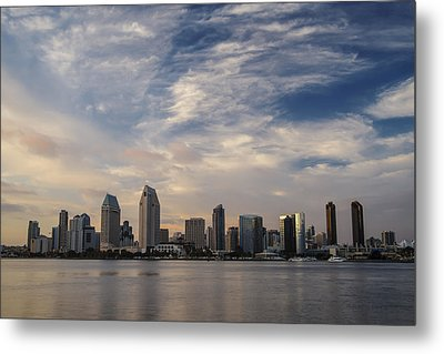 Metal Print featuring the photograph San Diego Skyline Sunset 1 by Lee Kirchhevel