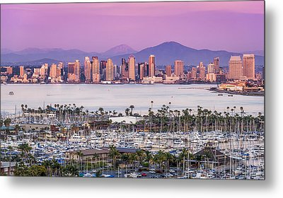 San Diego Sundown - San Diego Skyline Photograph Metal Print