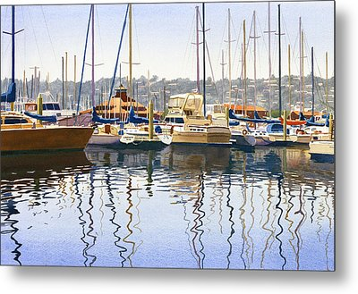San Diego Yacht Club Metal Print by Mary Helmreich