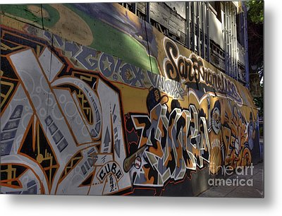 San Fran Street Art Metal Print by David Bearden