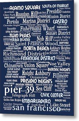 San Francisco 20130710bwco80 Metal Print