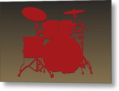 San Francisco 49ers Drum Set Metal Print by Joe Hamilton