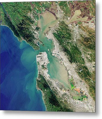 San Francisco Bay Metal Print by Jesse Allen And Robert Simmon/u.s. Geological Survey/nasa