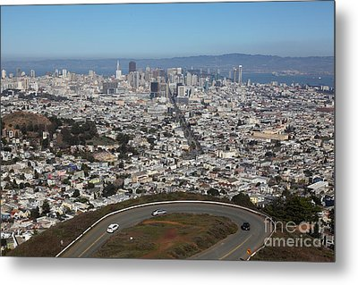 San Francisco California From Twin Peaks 5d28034 Metal Print by Wingsdomain Art and Photography