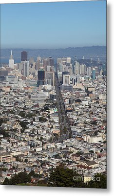 San Francisco California From Twin Peaks 5d28037 Metal Print by Wingsdomain Art and Photography