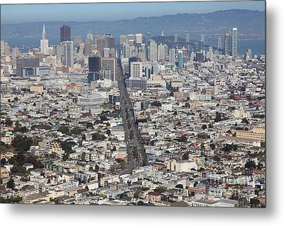 San Francisco California From Twin Peaks 5d28040 Metal Print by Wingsdomain Art and Photography