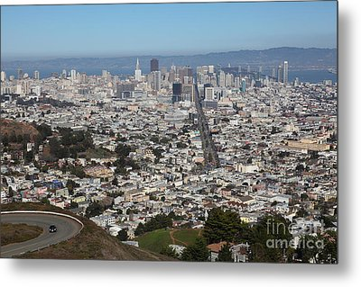 San Francisco California From Twin Peaks 5d28044 Metal Print by Wingsdomain Art and Photography
