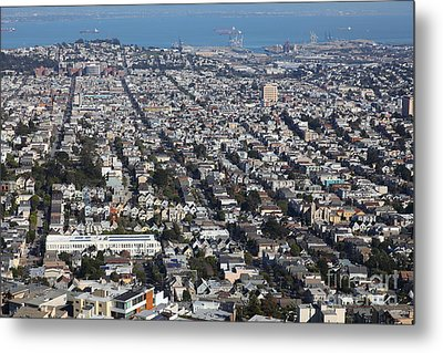 San Francisco California From Twin Peaks 5d28072 Metal Print by Wingsdomain Art and Photography