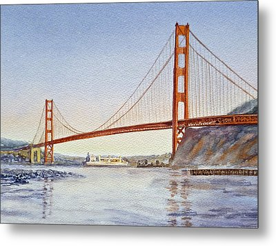 San Francisco California Golden Gate Bridge Metal Print by Irina Sztukowski