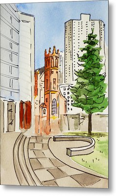San Francisco - California Sketchbook Project Metal Print by Irina Sztukowski